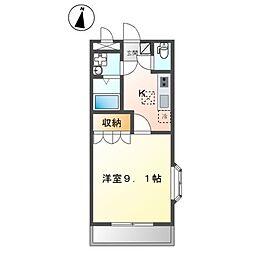 レジデンス弐番館[2階]の間取り