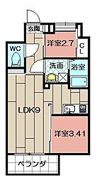 Studie TOBIHATA[506号室]の間取り