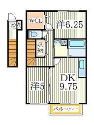 プランドールC[2階]の間取り