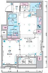 ジェノヴィア東神田グリーンヴェール 12階1LDKの間取り