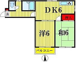リエス亀戸I[203号室]の間取り