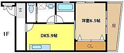 愛知県名古屋市昭和区川名町6丁目の賃貸マンションの間取り