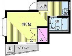 東京都板橋区成増4の賃貸アパートの間取り