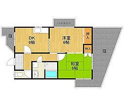 尾崎ハイツ[2階]の間取り