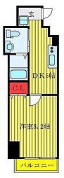 JR山手線 巣鴨駅 徒歩2分の賃貸マンション 5階1DKの間取り