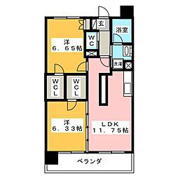 静岡清閑町エンブルコート[9階]の間取り