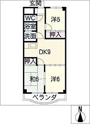 ソシエ2002[3階]の間取り
