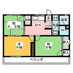 SUNハイツ[2階]の間取り