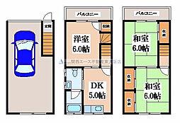[一戸建] 大阪府東大阪市西堤本通西3丁目 の賃貸【大阪府 / 東大阪市】の間取り