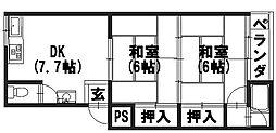 永井マンション[2-C号室]の間取り
