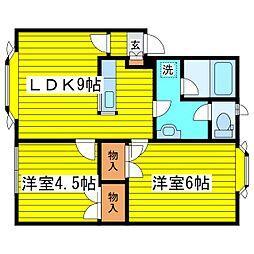 北海道札幌市東区北十七条東17丁目の賃貸アパートの間取り