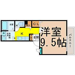 愛知県名古屋市中区金山2の賃貸マンションの間取り