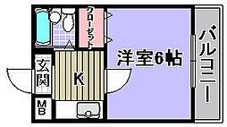 エルム泉大津パート2[406号室]の間取り
