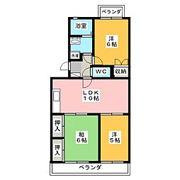 ぱあくたうんルナII[1階]の間取り