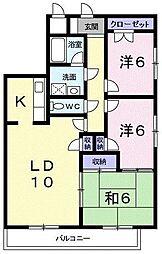スカイマンション[0901号室]の間取り
