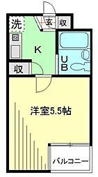 東京都調布市多摩川2丁目の賃貸マンションの間取り
