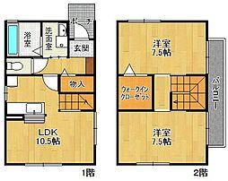 [一戸建] 兵庫県西宮市段上町8丁目 の賃貸【/】の間取り