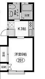 第1すみれ荘[2階]の間取り