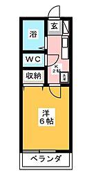ベルビュー六会[2階]の間取り