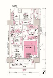 JR京浜東北・根岸線 大井町駅 徒歩3分の賃貸マンション 5階2LDKの間取り