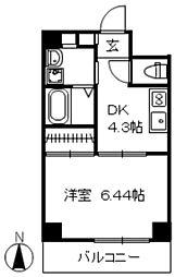 広島県広島市中区大手町の賃貸マンションの間取り