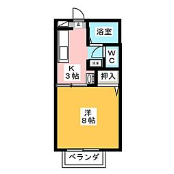 エクセル栄[2階]の間取り