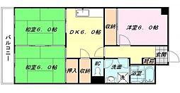 大産南福岡ビル[8階]の間取り