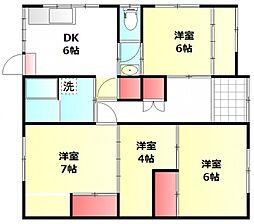 [一戸建] 岡山県倉敷市玉島1丁目 の賃貸【/】の間取り