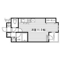 レジディア相模原[4階]の間取り