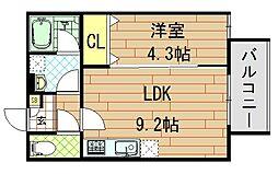 Casa di lapin(カーサ ドゥ ラパン)[1階]の間取り