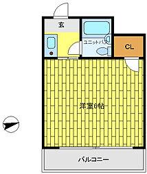 パーソナルハイツ御影[4階]の間取り