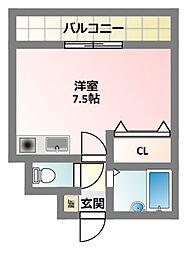 大阪府寝屋川市高柳5丁目の賃貸マンションの間取り