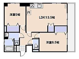 中川マンション[4階]の間取り