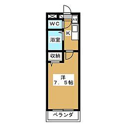 フェイム西ノ京[2階]の間取り