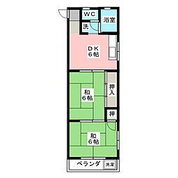 コーポ加藤[3階]の間取り