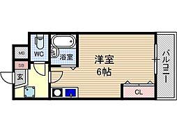 フローラ茨木[2階]の間取り