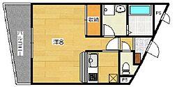 グランコスモ出町柳II[2階]の間取り