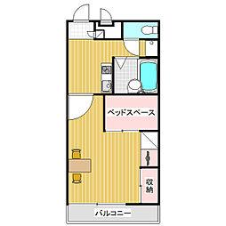 長野県松本市宮渕3丁目の賃貸アパートの間取り