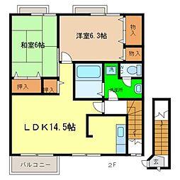 シーサイドパークB[2階]の間取り