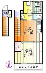 大阪府吹田市岸部中4丁目の賃貸マンションの間取り