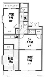 いずみ野駅徒歩5分 エスポワールいずみ野405号室[4階]の間取り