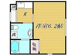 東京都北区田端5丁目の賃貸マンションの間取り