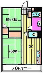 ビレッジハウス柳崎タワー[4階]の間取り