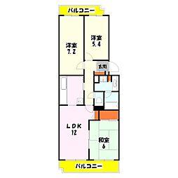 テラス竹ノ塚イースト[802号室]の間取り