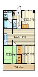 モアメーム[5階]の間取り