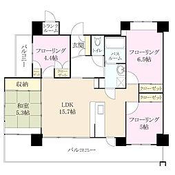 クラシオン小笹山手 3番館[7階]の間取り