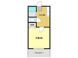 愛知県名古屋市千種区西崎町1丁目の賃貸アパートの間取り