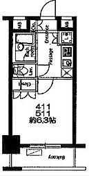 レジディア横濱関内[4階]の間取り