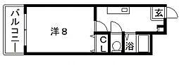 プレナム北田辺[2階]の間取り