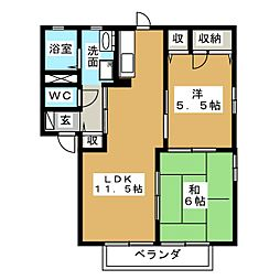 エスポワール今泉 B[2階]の間取り